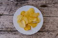 Plate with potato chips - PhotoDune Item for Sale