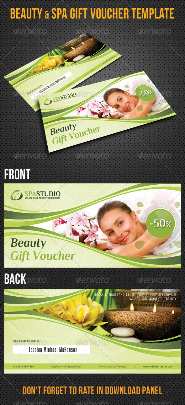 Beauty and Spa Gift Voucher V32