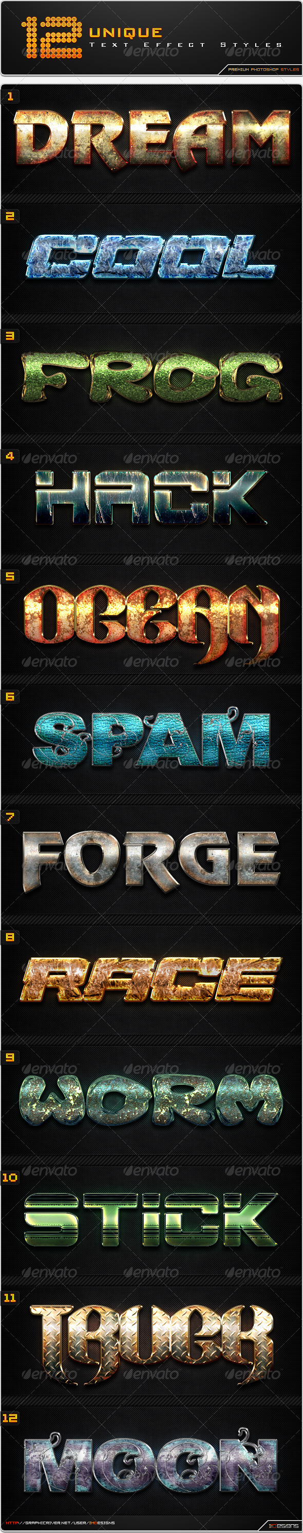 GraphicRiver - 12 Text Effect Styles