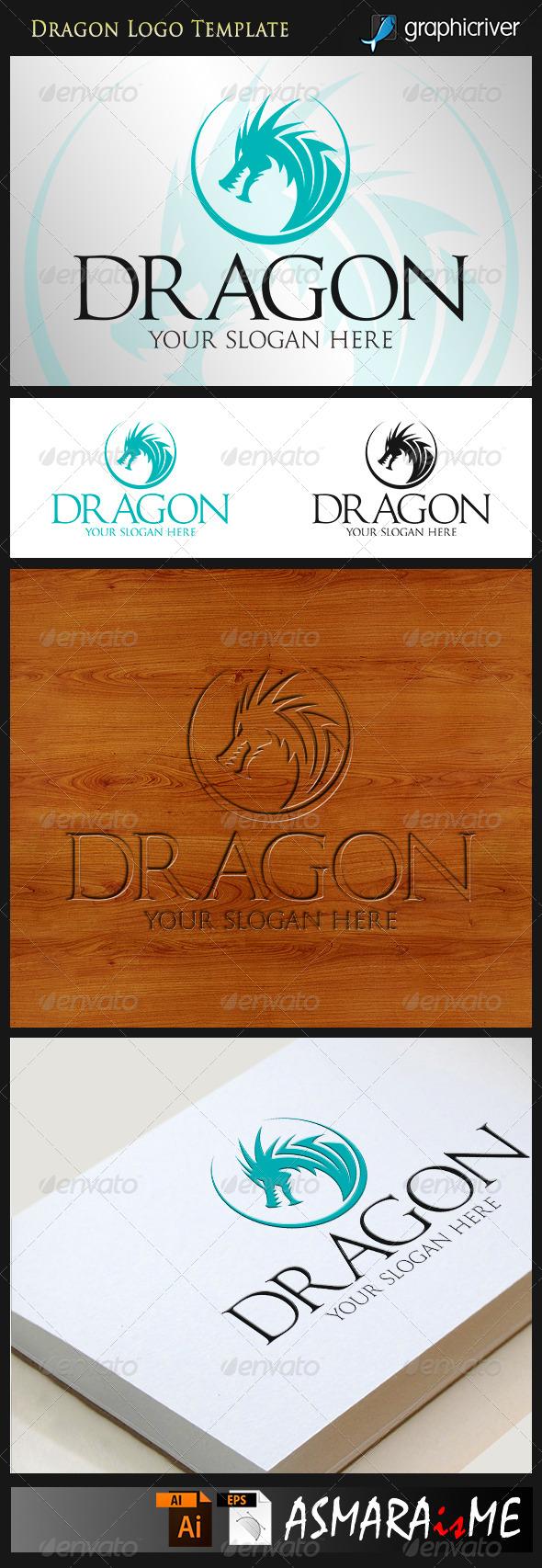 GraphicRiver Dragon Head Logo 8518762