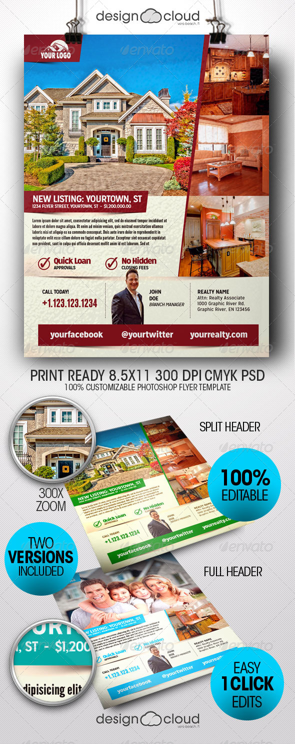 GraphicRiver Realtor Real Estate Flyer Templates 8518787