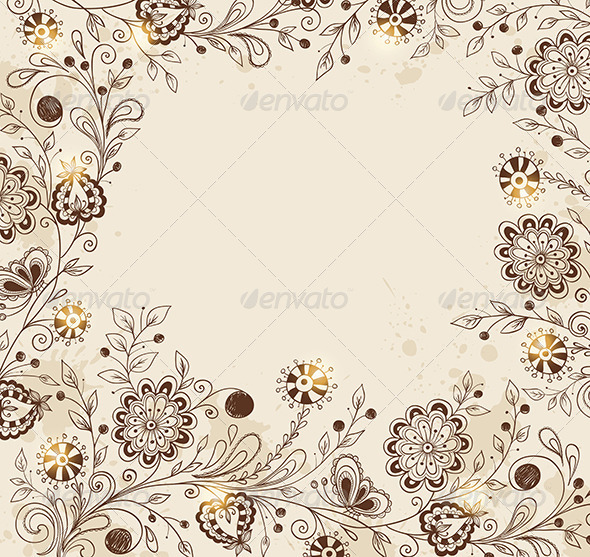 GraphicRiver Background with Flowers 8518806