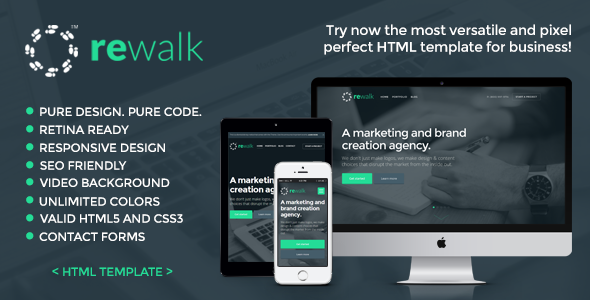 ThemeForest ReWalk Responsive Business HTML Template 8489501