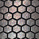 Metallic Hexagonal Tiles - Seamless 2048