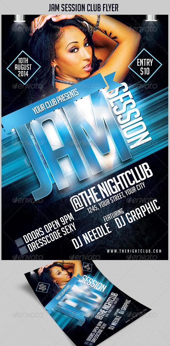 GraphicRiver Jam Session Club Flyer 8518921