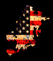 Flame Shape Usa Flag in Grunge Style - PhotoDune Item for Sale