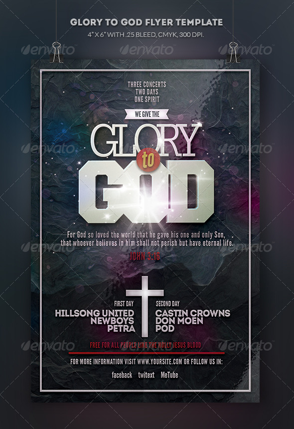 GraphicRiver Glory to God Flyer Template 8519097