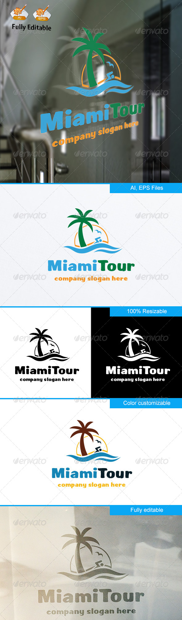 GraphicRiver MiamiTour logo 8519102