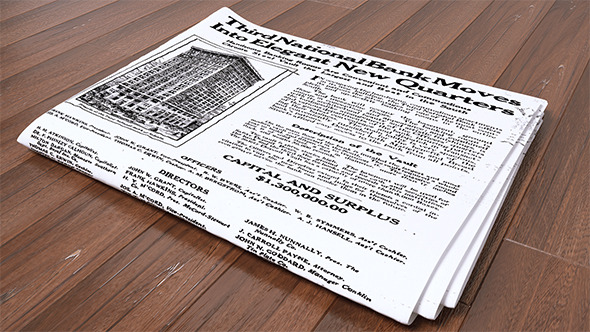 Newspaper (VrayC4D) - 3DOcean Item for Sale