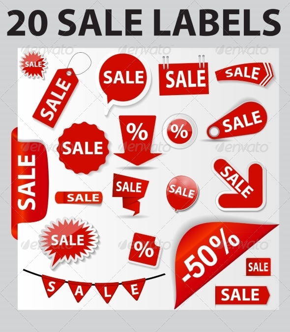 GraphicRiver 20 Sale Labels 8519122