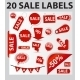 20 Sale Labels - GraphicRiver Item for Sale