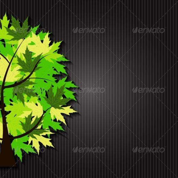 GraphicRiver Abstract Spring Tree Illustration 8519277