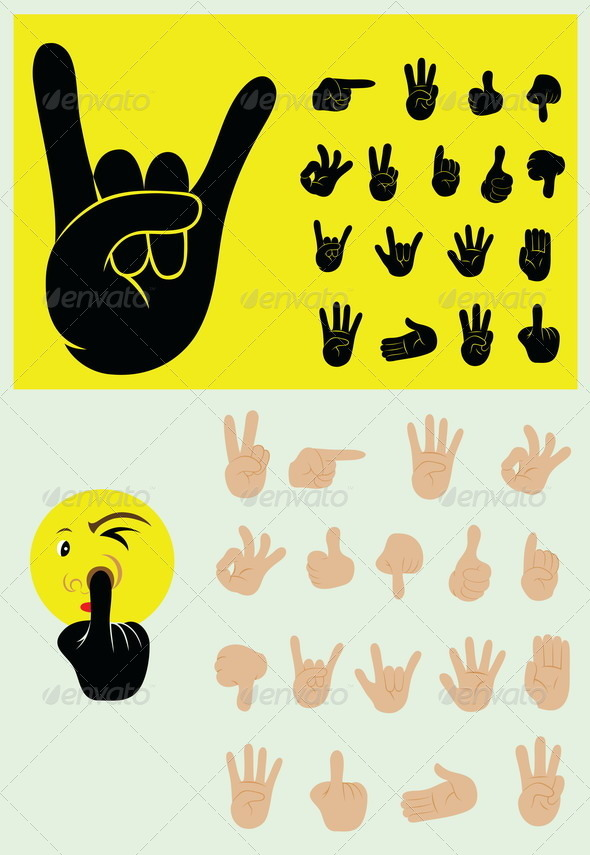 GraphicRiver Finger Gesture Set 8519309