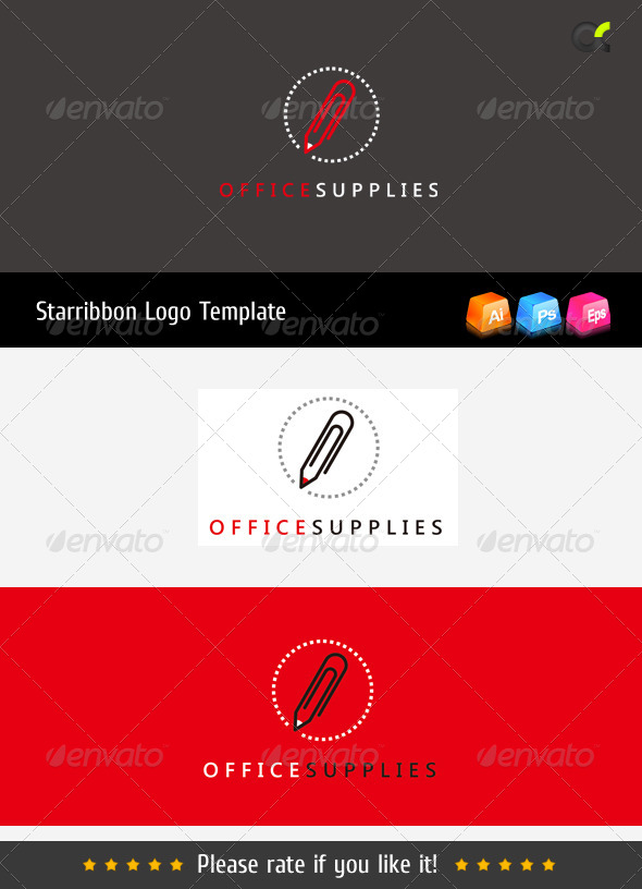 Office Supplies Logo Template - Objects Logo Templates