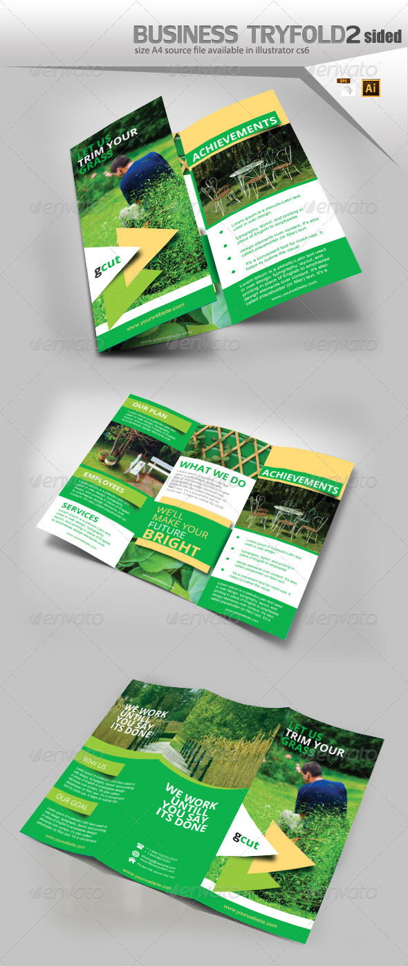 GraphicRiver Gardening Three Fold Brochure 8519456