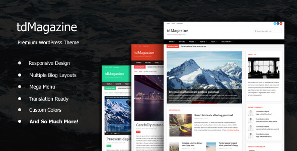 tdMagazine - WordPress News Theme