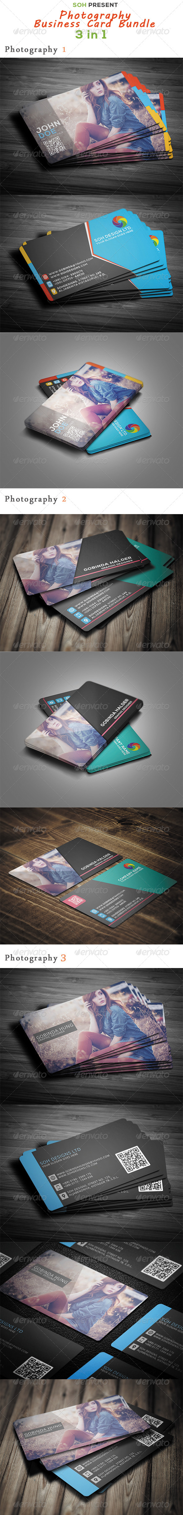 GraphicRiver Photography Business Card Bundle 8519485