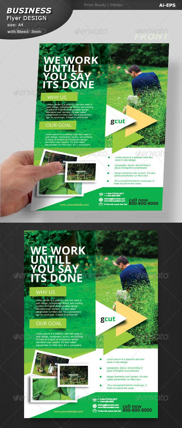 GraphicRiver Gardening Handout Design 8519525