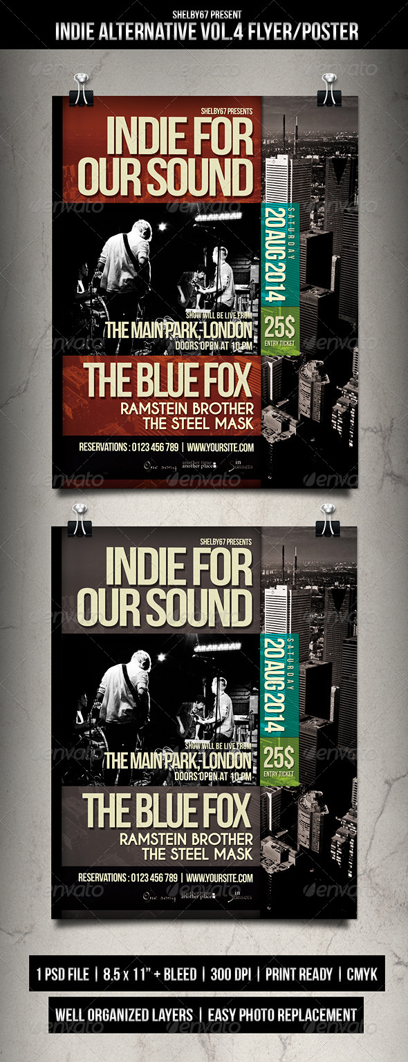 GraphicRiver Indie Alternative Flyer Poster Vol.4 8514692