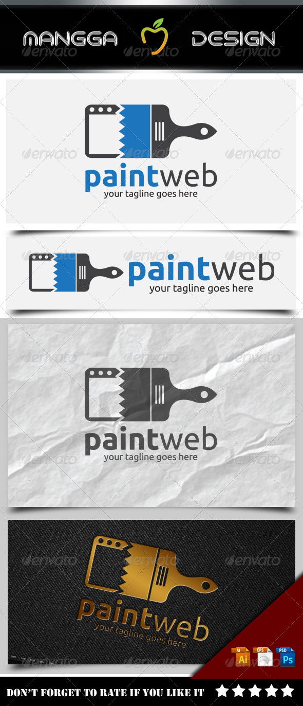 GraphicRiver Paint Web Logo 8519533