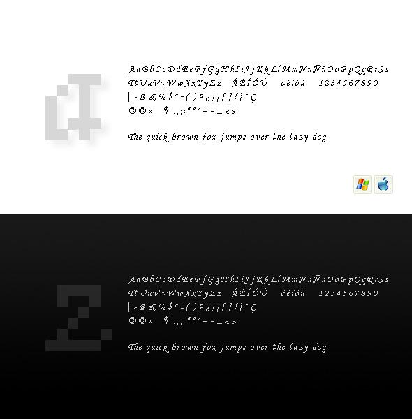 Baricco Regular - Bitmap & Pixel Decorative