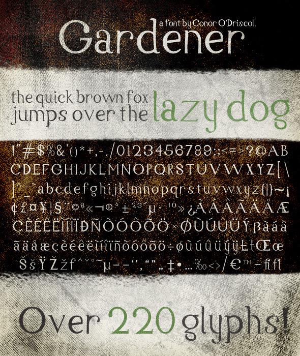 Gardener Font - Serif Fonts