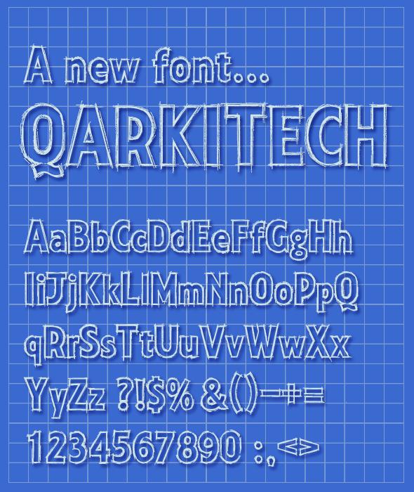 Qarkitech Lettering Blueprint Minimal Style