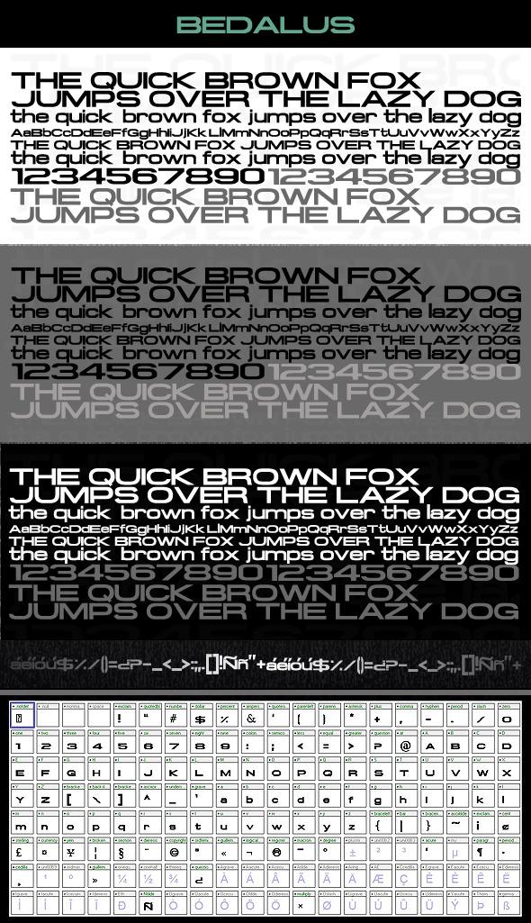 Bedalus Font - Sans-Serif Fonts