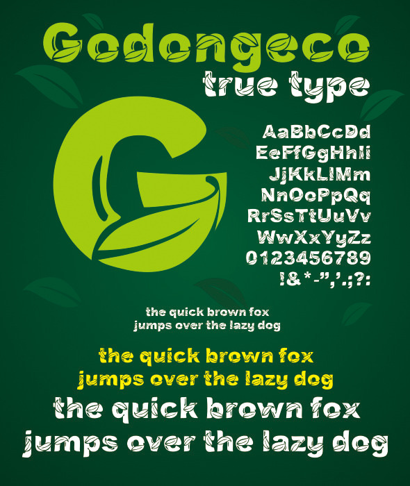 Godongeco True Type - Decorative Fonts