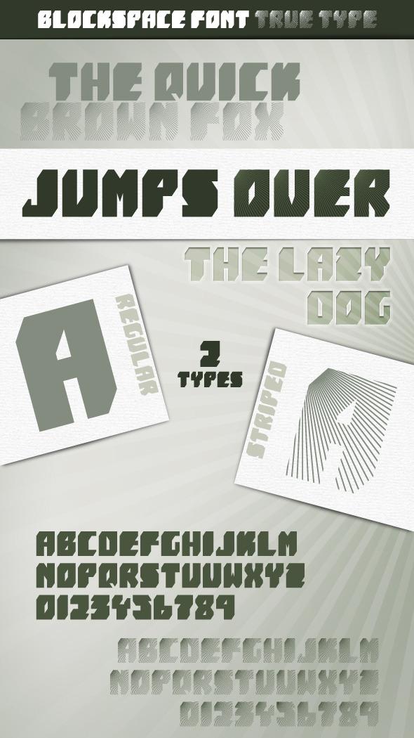 BlockSpace font - Sans-Serif Fonts