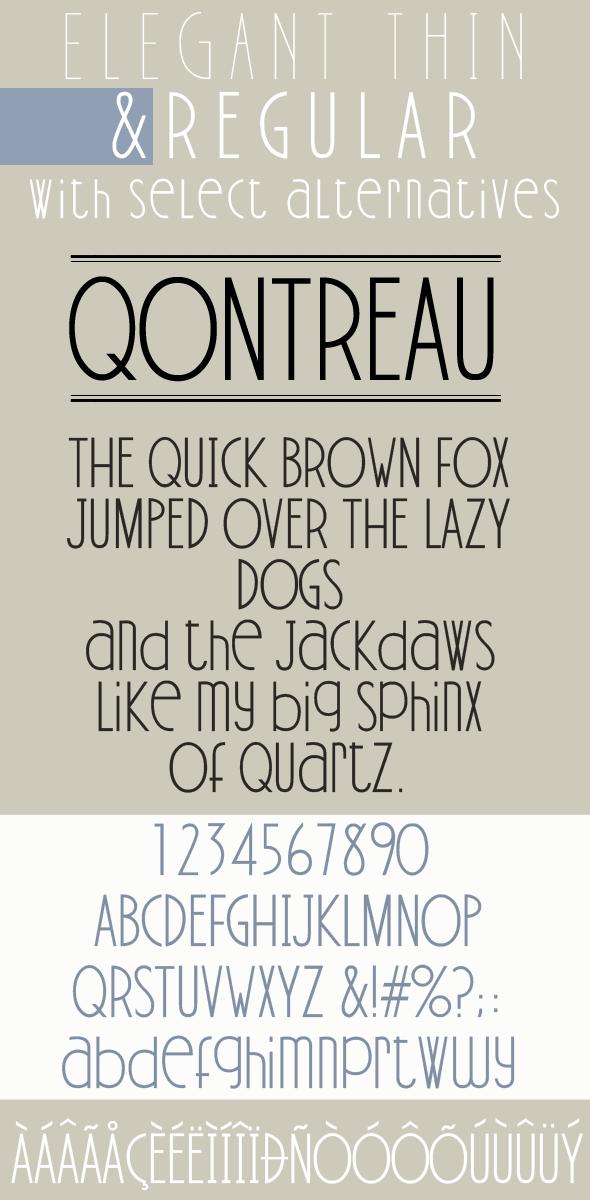 Qontreau; Modern & Elegant Typeface - Sans-Serif Fonts