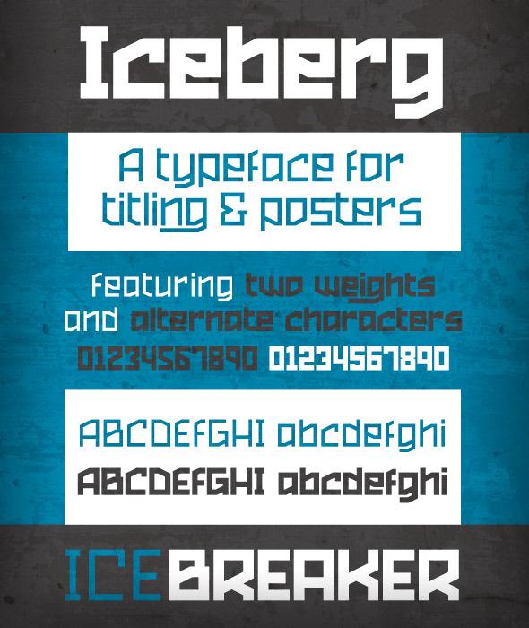 Iceberg - Sans-Serif Fonts