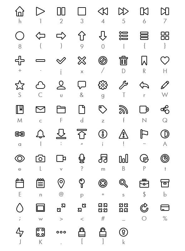 Wirecons—Icon Font - Ding-bats Fonts