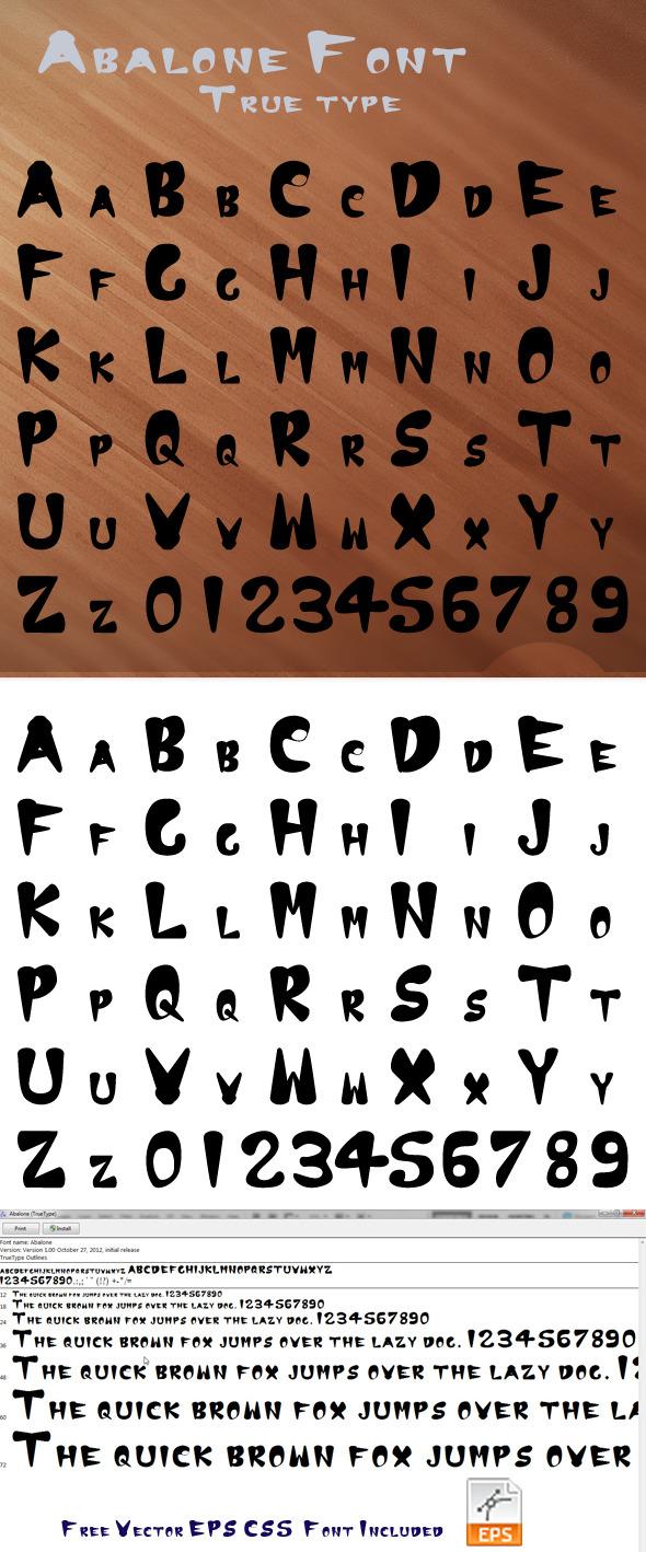 Abalone True Type Font - Graffiti Decorative