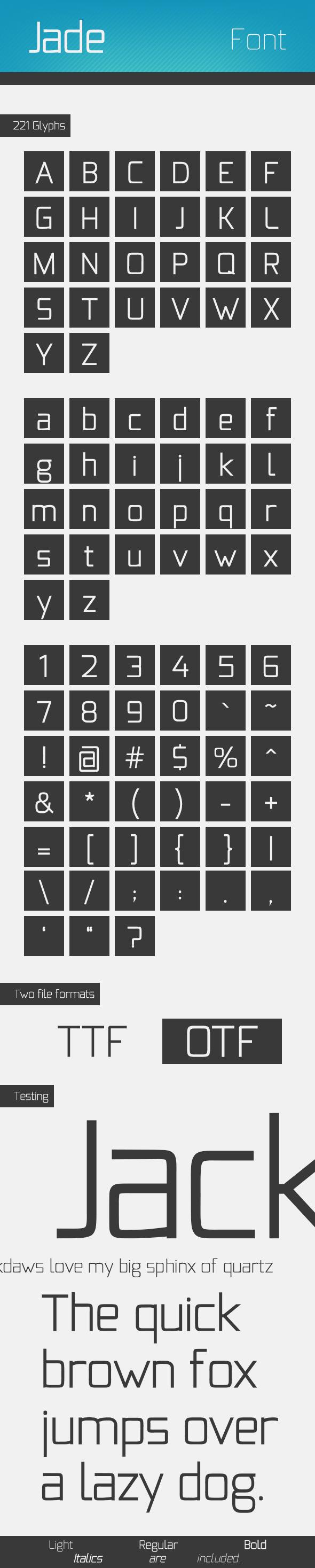 Jade Font Family - Sans-Serif Fonts