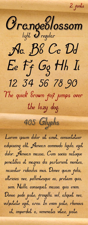 Orangeblossom-Font - Decorative Fonts