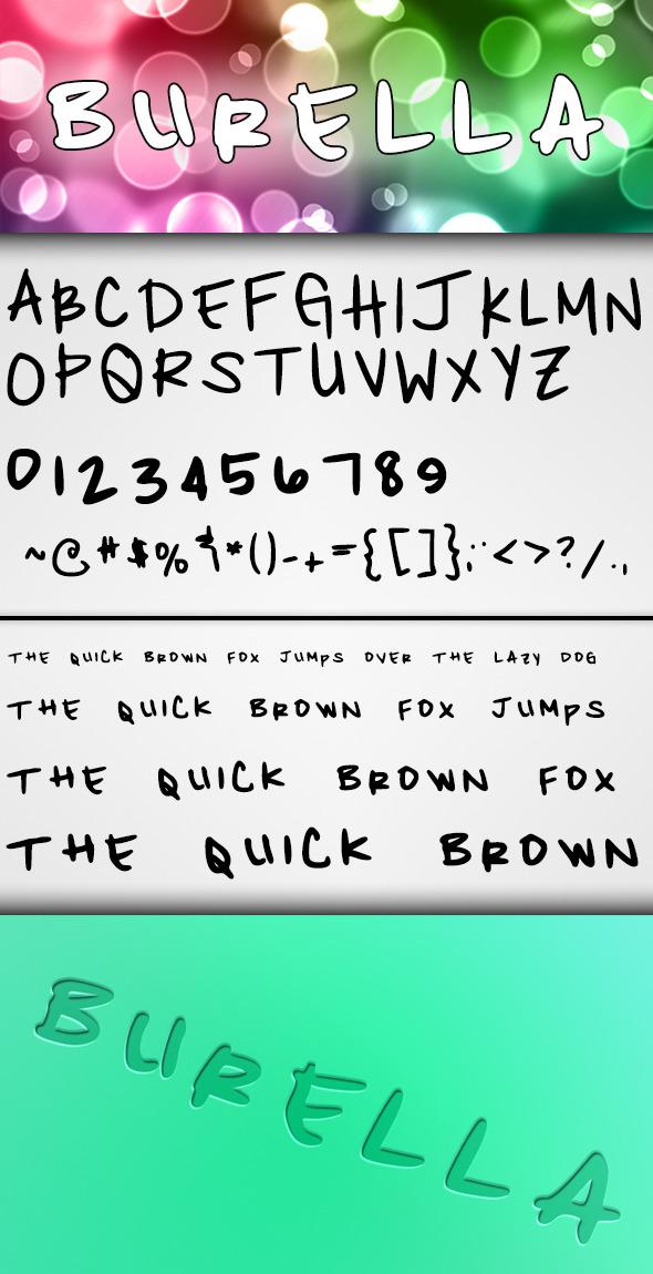Burella Font - Script Fonts