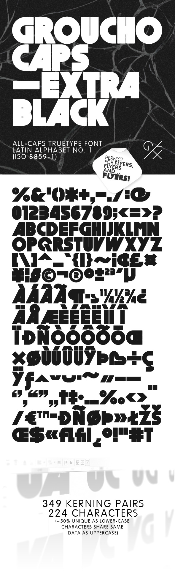 GrouchoCaps - Extra Black - Sans-Serif Fonts