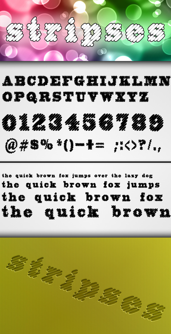 Stripses Font - Decorative Fonts