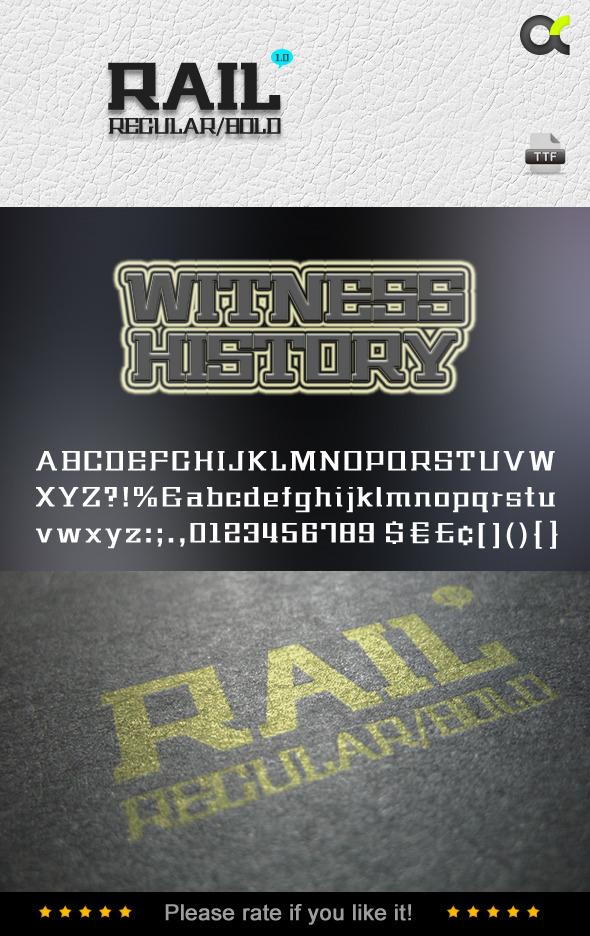 Rail Fonts - Fonts