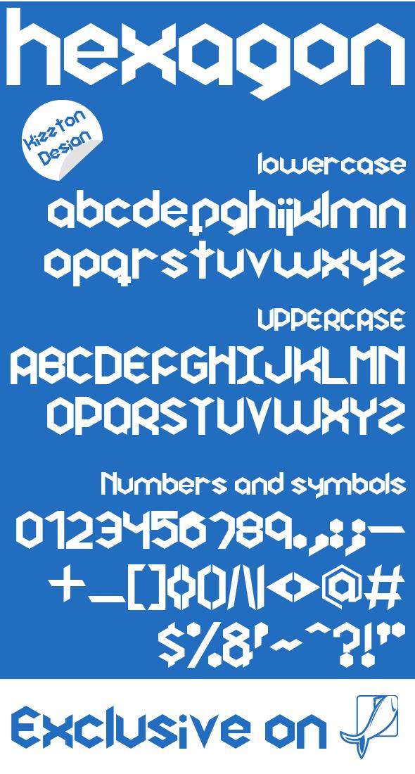 Hexagon Premium Font