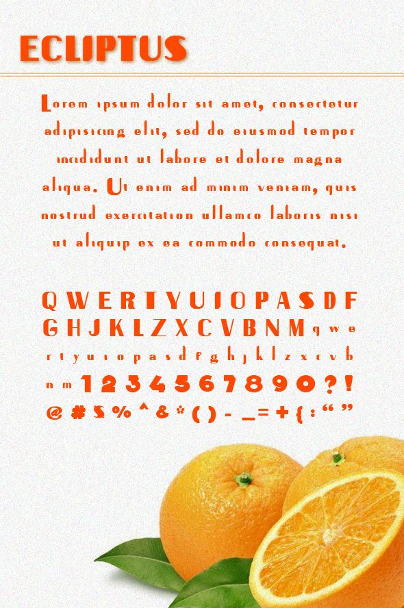 Ecliptus Sans Serif Font - Sans-Serif Fonts