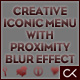 Creative Iconic Menu with proximity blur effect - ActiveDen Item for Sale