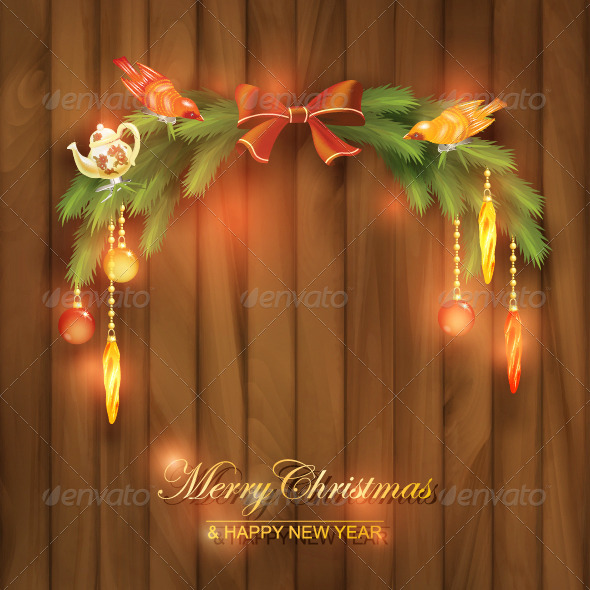 GraphicRiver Christmas Tree Branches Decorations Toys 8519567