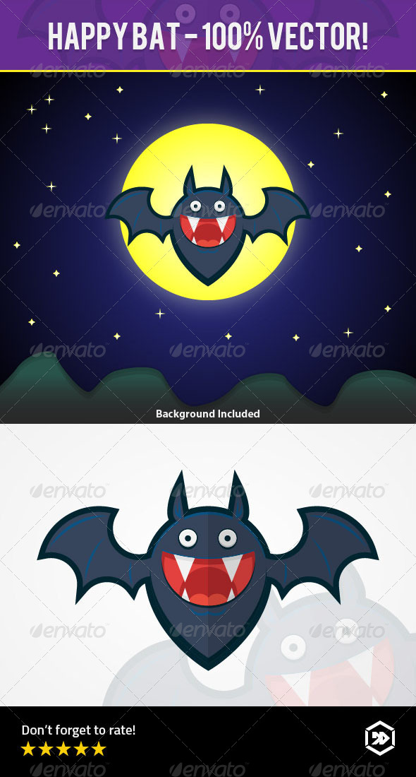 GraphicRiver Happy Bat Character 8519575