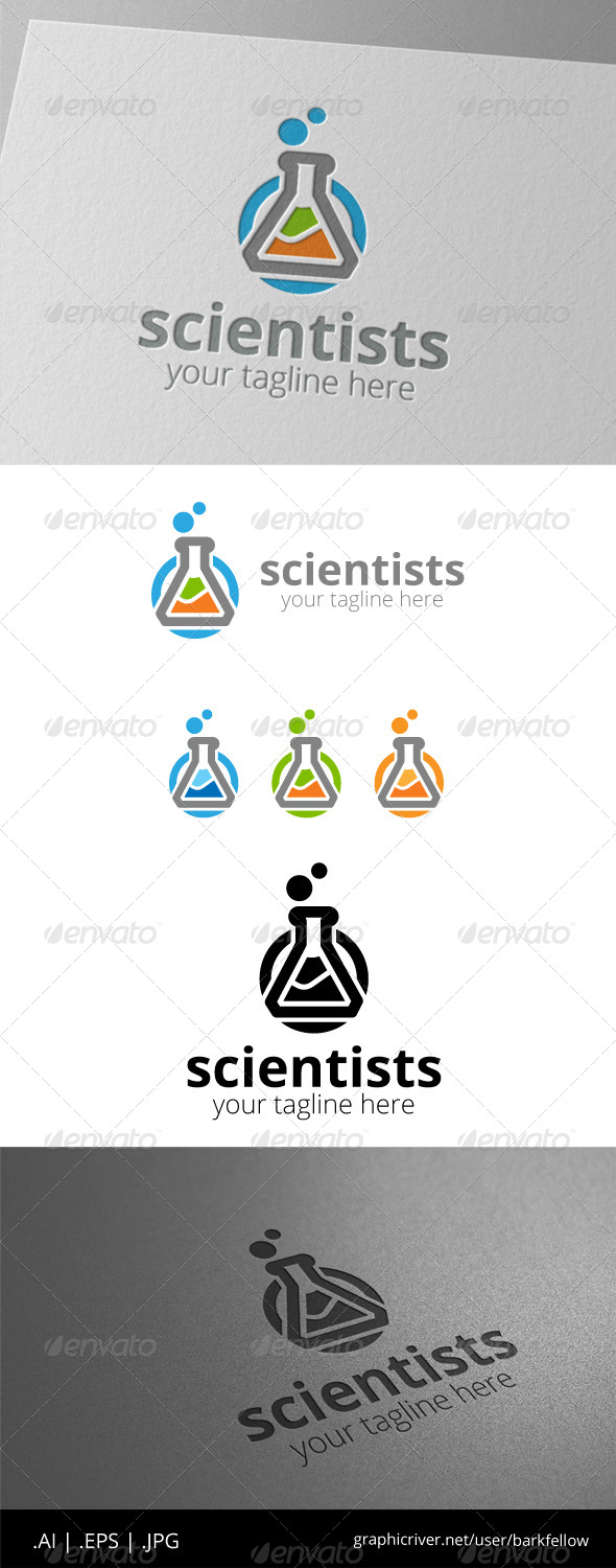 GraphicRiver Scientists Test Tube Logo 8519706