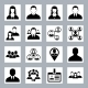 Human Resource and Management Icons Set - GraphicRiver Item for Sale