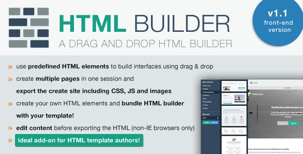 CodeCanyon HTML Builder Front-End Version 8432859