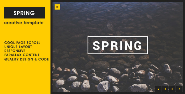 ThemeForest Spring Creative One Page Template 8498493