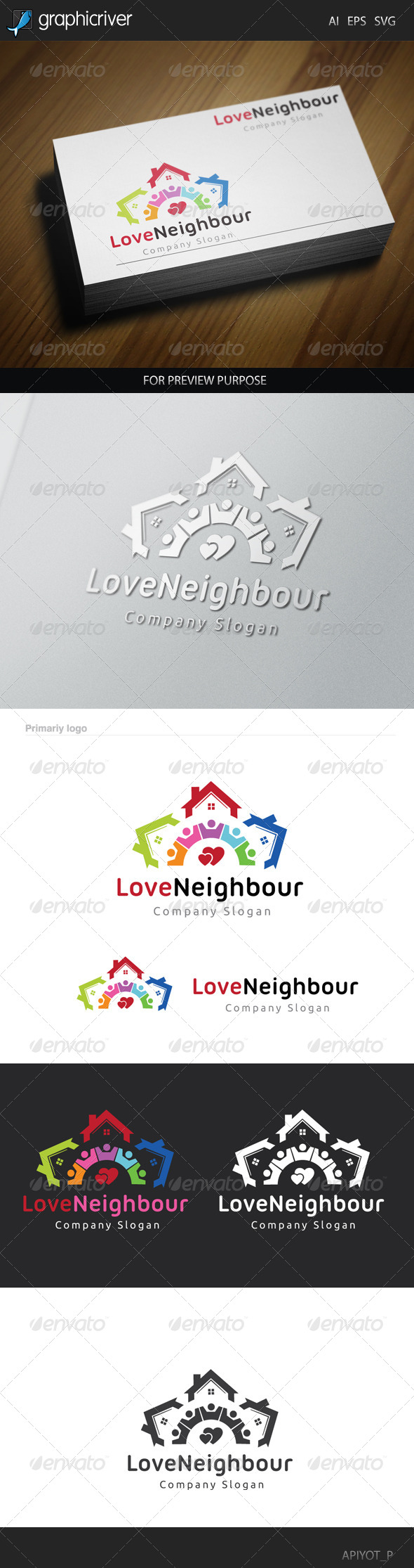 GraphicRiver Love Neighbour Logo 8520078